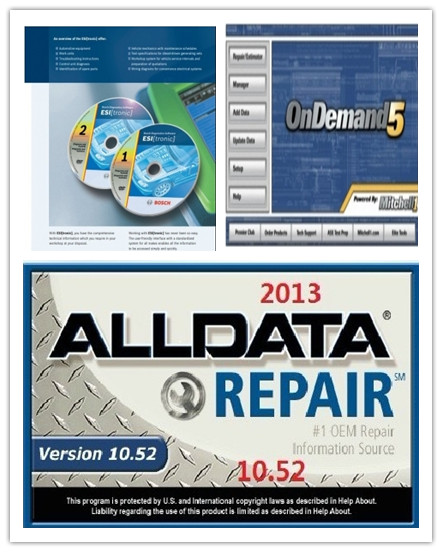 Automotive Diagnostic Software ALLdata10.52+OnDemand5.8 + BOSCH ESI 2012