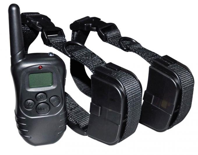 300m Remote Pet Training Collar For 2 Dogs With LCD Display & LED Light