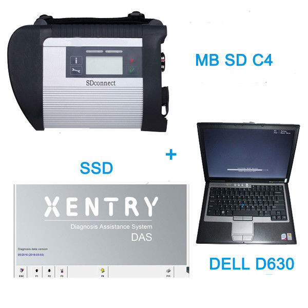 V2016.7 MB SD C4 Star Auto Diagnostic Tools With  256GB SSD Plus DELL D630 Laptop