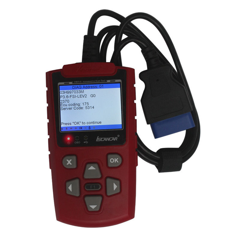 OBD2 Scanner Codes Red IScancar OBDII EOBD Cars Trouble Code Scanner English Edition