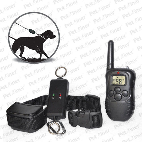 Reliable Remote Pet Training Collar , 300m Leash-Walking Training Collar With Transmitter