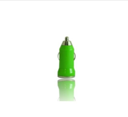 1000mA Green Mini USB Car Iphone External Battery Charger For IPad, Ipod
