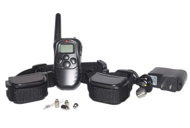 China Rechargeable Durable Remote Pet Training Collar Waterproof 300m For 2 Dogs Training factory
